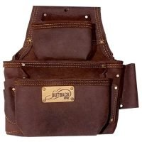 """Oil-Tanned 3"""" Leather Fastener Bag by Ox Tools"""