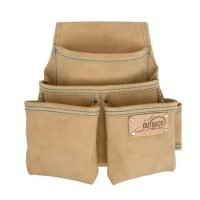 Ox Tools Suede Leather 4-Pocket Fastener Pouch
